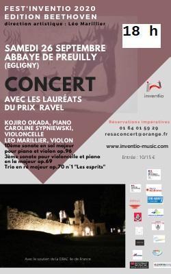 Affiche Fest'Inventio 2020 édition Beethoven