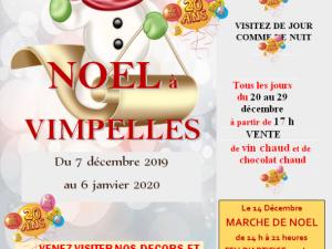 Affiche Noël 2019 à Vimpelles