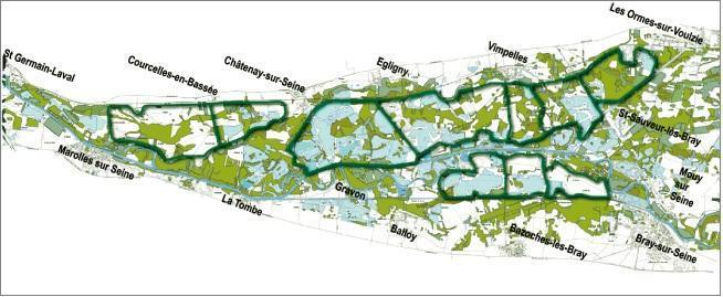 Carte des crues de la Seine