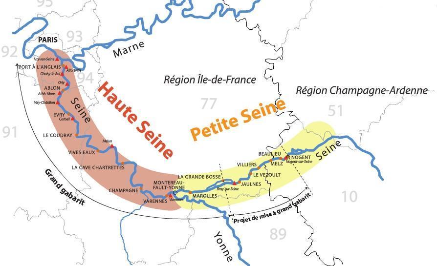Carte Seine Grand Gabarit